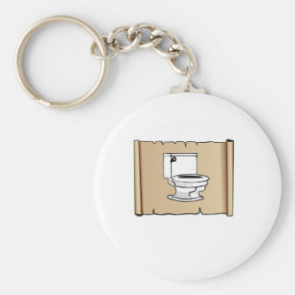toilet on the scroll basic round button keychain