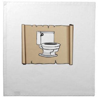 toilet on the scroll napkin