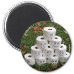 Toilet Paper Bowling Fridge Magnet