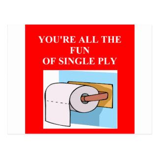 toilet paper insult postcard