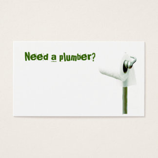 toilet paper, Need a plumber? Business Card