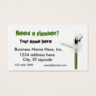 toilet paper, Need a plumber? Business cards
