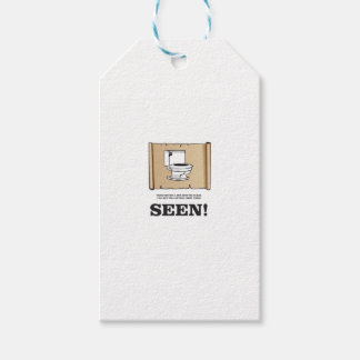 toilet point of view pack of gift tags