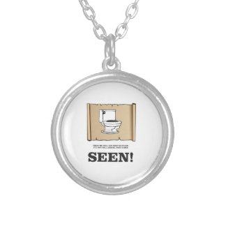 toilet point of view silver plated necklace