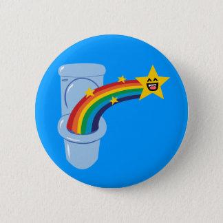 Toilet Rainbow 2 Inch Round Button