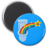 Toilet Rainbow Fridge Magnets