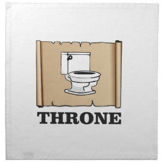 toilet throne fun napkin
