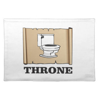 toilet throne fun placemat