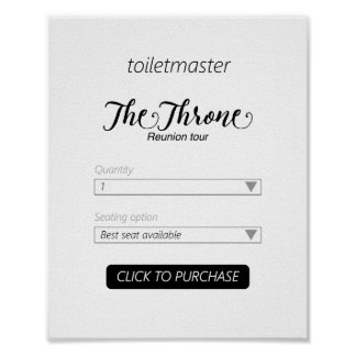 Toiletmaster Bathroom Print