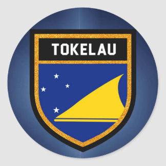 Tokelau Flag Round Sticker