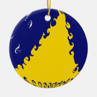 Tokelau Ganrly Flag Double-Sided Ceramic Round Christmas Ornament
