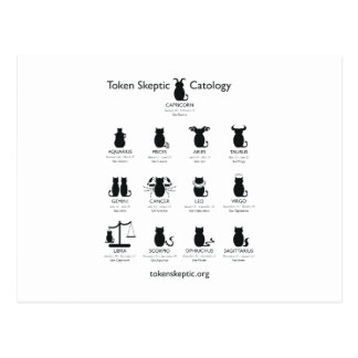 Token Skeptic Catology / Astrology Postcard