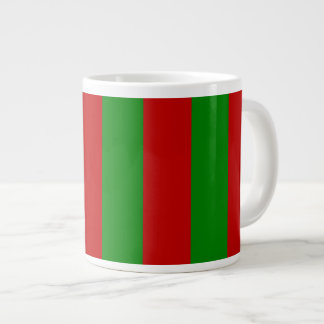 Toksie Turbie Red and Green Wallpaper Large Coffee Mug