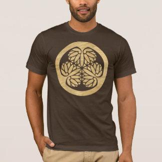Tokugawa Aoi Mon Japanese Family Crest Wood Veneer T-Shirt