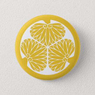 Tokugawa Clan Mon Crest 2 Inch Round Button