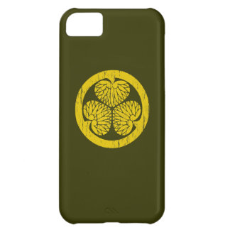 Tokugawa gold crest distressed iPhone 5C covers