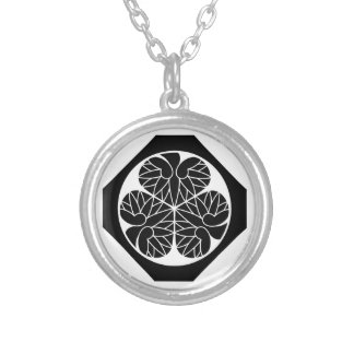 Tokugawa hollyhock 11(12th Ieyoshi)13 Silver Plated Necklace