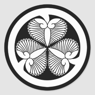 Tokugawa hollyhock 7(6th Ienobu)35 Round Sticker