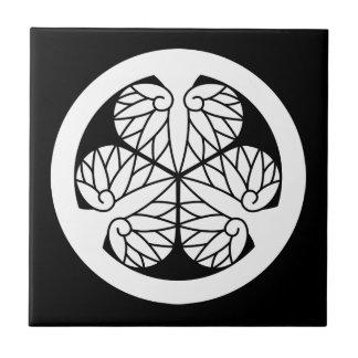 Tokugawa mallow (13 蕊) tile