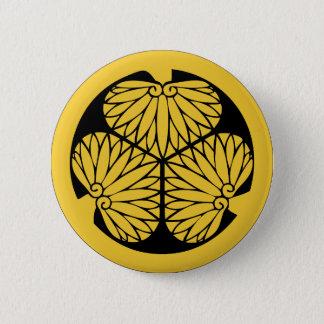 Tokugawa shoguns mon (crest) 2 inch round button