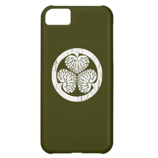 Tokugawa white crest distressed iPhone 5C covers