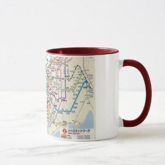 TOKYO 地図東京の地下鉄 MUG
