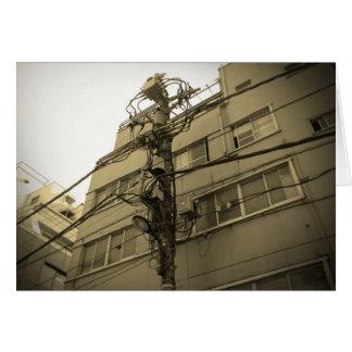 Tokyo City Electric Pole Card