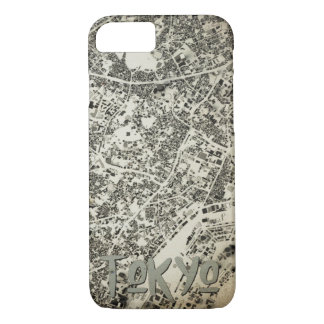 Tokyo City Streets and Buildings Vintage Design Case-Mate iPhone Case