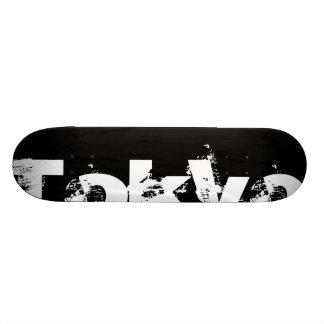 Tokyo - Cool Urban Style In Worn Black And White Skate Boards