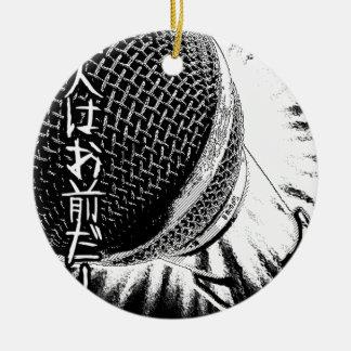 Tokyo Deejays Retro 1980s music  Mega Microphone Ceramic Ornament