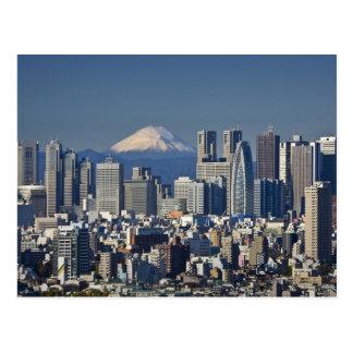 Tokyo, horizon de secteur de Shinjuku, le mont Cartes Postales