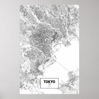 Tokyo, Japan (black on white) Poster