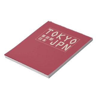 Tokyo, Japan notepad