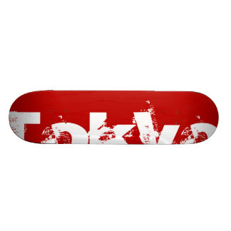Tokyo - Japan, Red Color And White Text Skateboard
