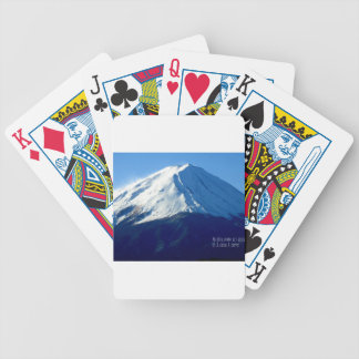 """ Tokyo photographer famous photographer Mt. Fuji Bicycle Playing Cards"