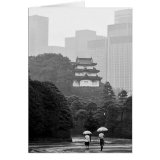 Tokyo Rain Note Card Greeting Card