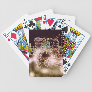 Tokyo Rickshaw Night Bicycle Playing Cards