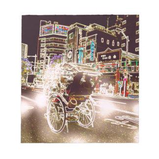Tokyo Rickshaw Night Notepad