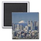 Tokyo, Shinjuku District Skyline, Mount Fuji, Magnet