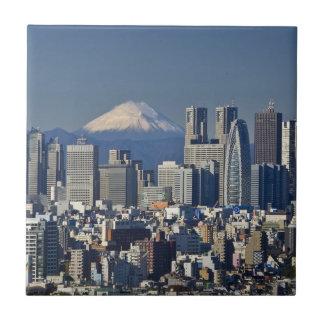 Tokyo, Shinjuku District Skyline, Mount Fuji Tiles