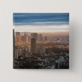 Tokyo Skyline at Sunset 2 Inch Square Button