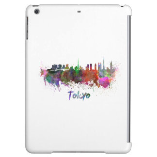 Tokyo skyline in watercolor case for iPad air
