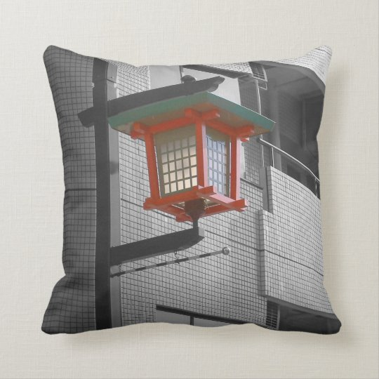 Tokyo Street light Throw Pillow