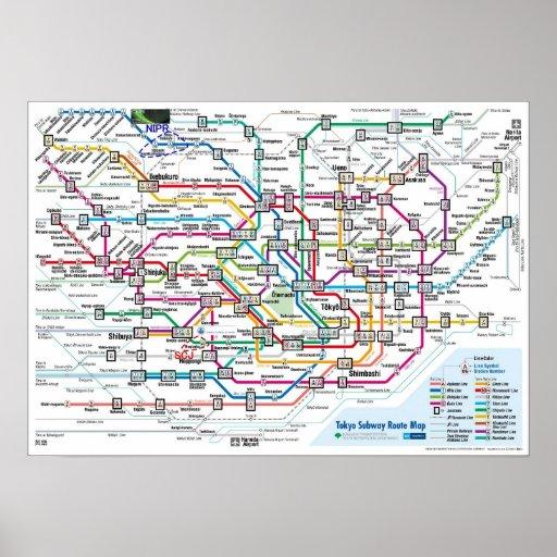 Tokyo Subway Map Print