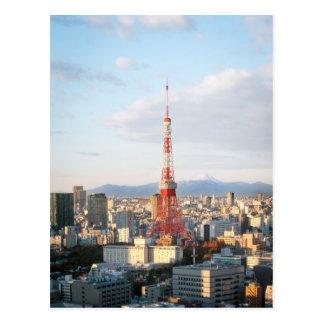 Tokyo Tower and Fujisan Postcard