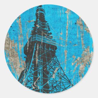 TOKYO TOWER. ROUND STICKER