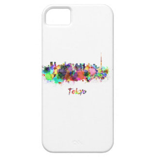 Tokyo V2 skyline in watercolor Case For The iPhone 5
