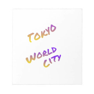 Tokyo world city, colorful text art notepad