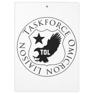 TOL shield (2), black on white clipboard