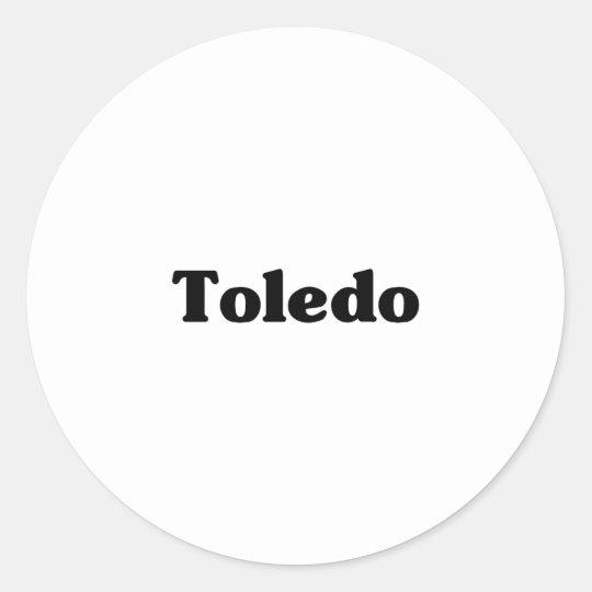 Toledo  Classic t shirts Classic Round Sticker